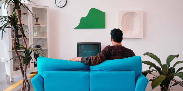 Wanting to watch TV alone can be a sign that stress is affecting your social life.