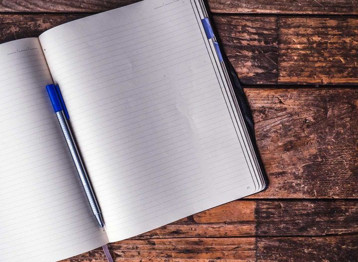 A blank journal - Photo by Jessica Lewis from Pexels